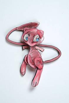 Pokemon Paper Quilling Art 151 Mew