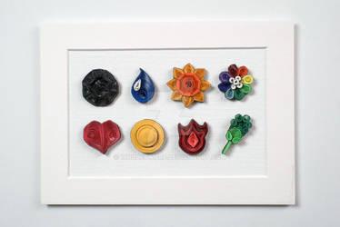 Pokemon Paper Quilling Art Kanto Gym Badges