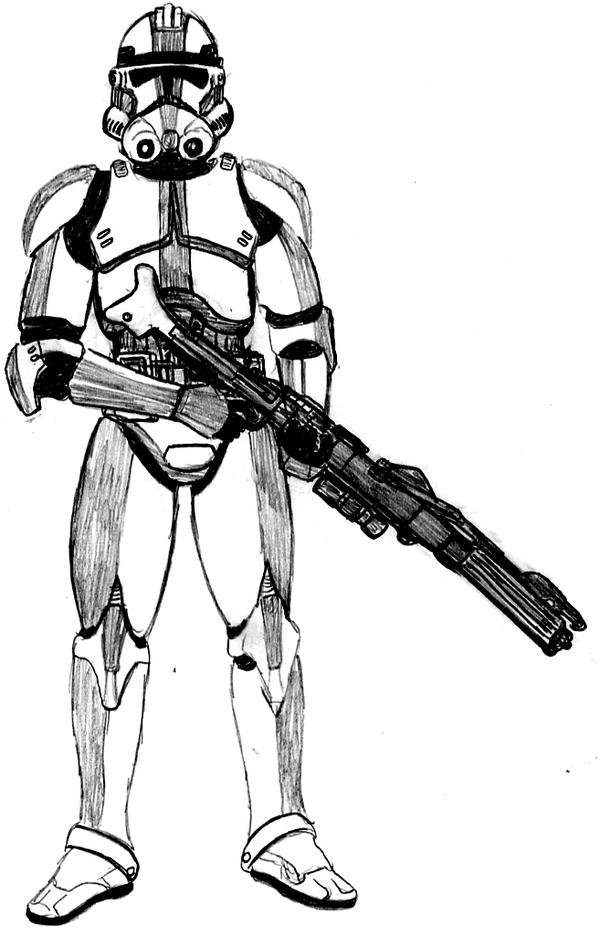 Clone trooper 501st by crashybandicoot on deviantart for Clone trooper coloring pages