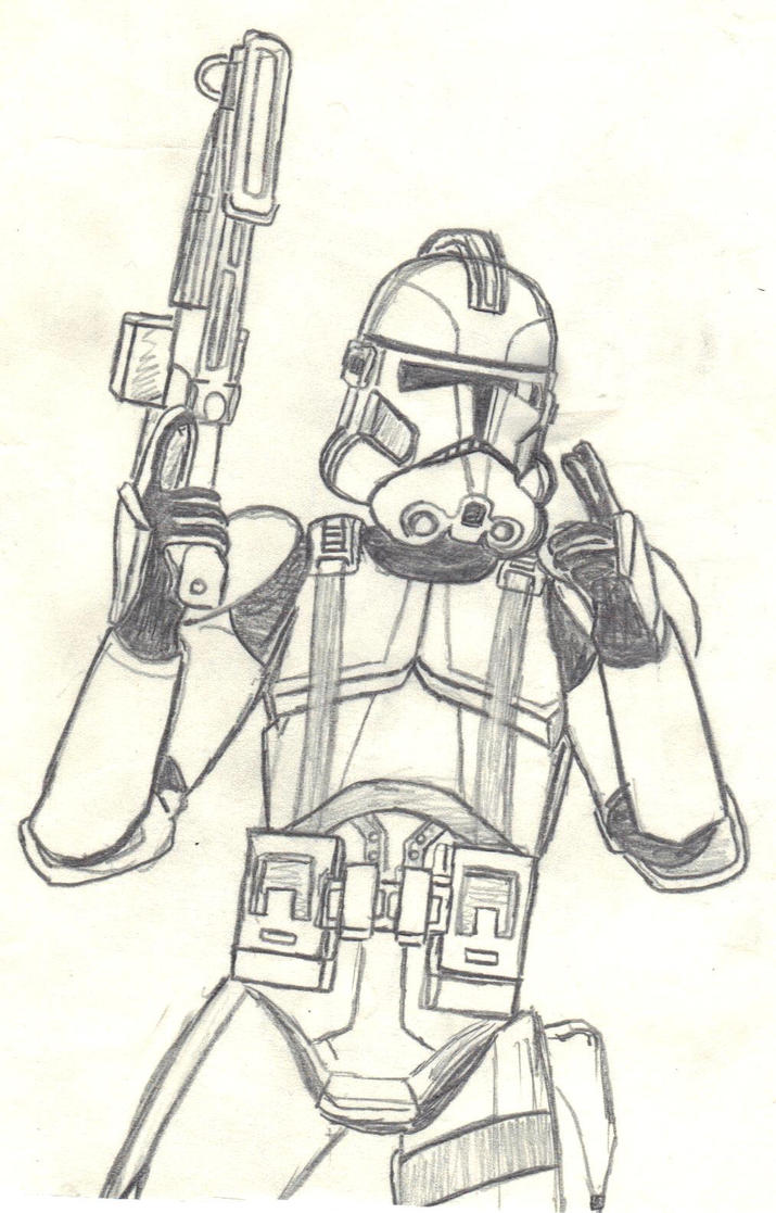 clone commander gree coloring pages - photo#1