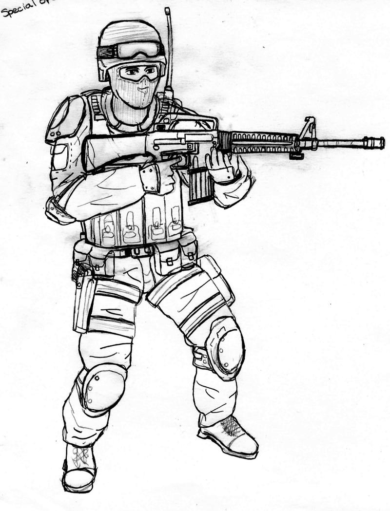 Call Of Duty Gun Coloring Coloring Pages