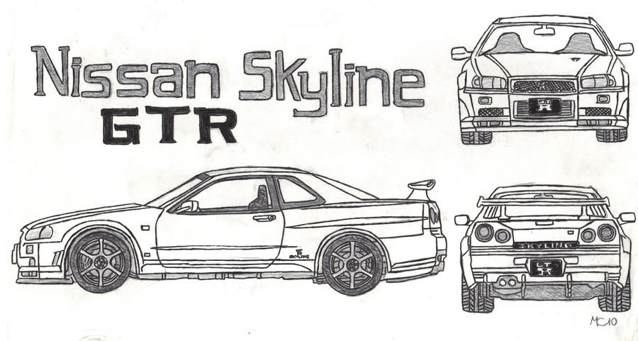 Nissan Skyline Sketch Nissan Skyline Gtr 34 by