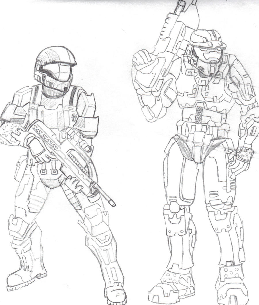 odst and master chief by crashybandicoot on deviantart