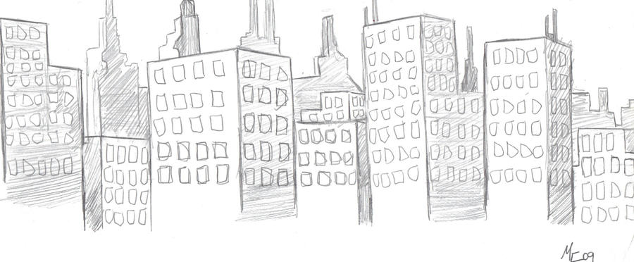 sketch of a city