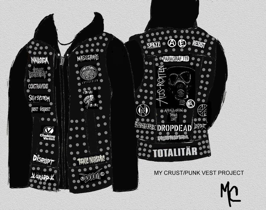 DIY Crust Punk Vest Project by CrashyBandicoot