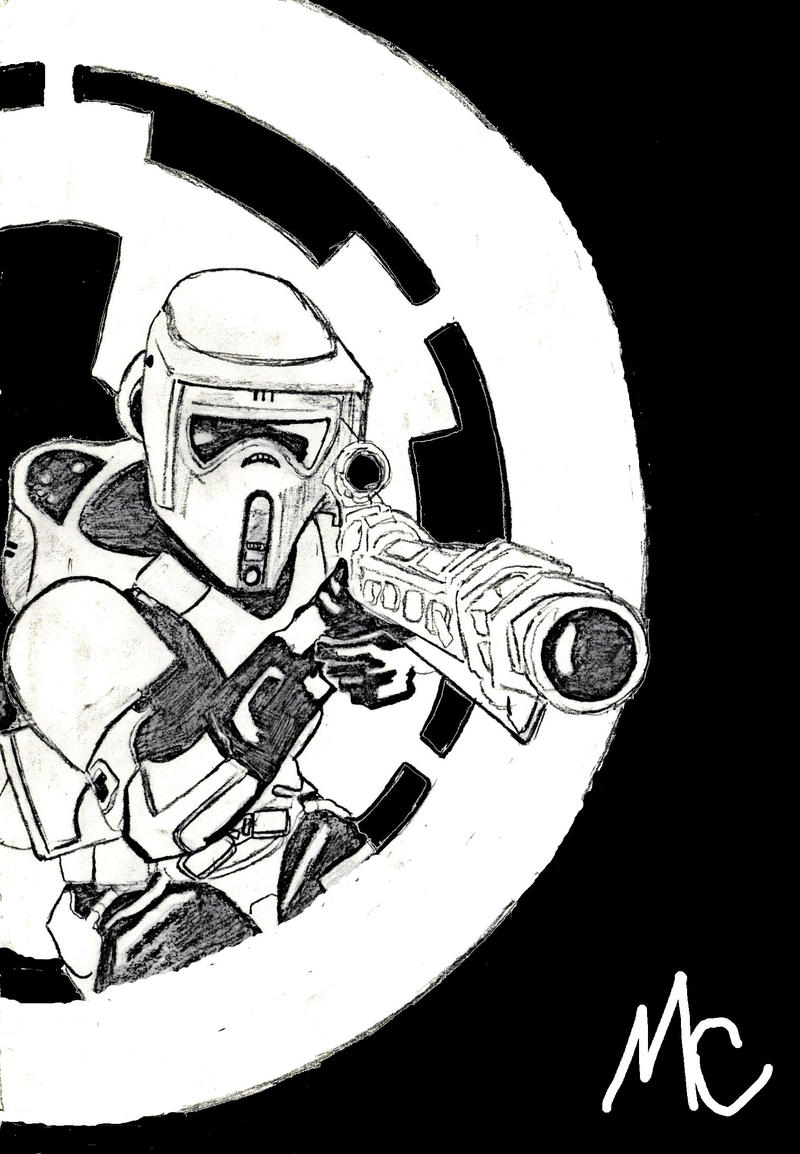 how to draw a scout trooper
