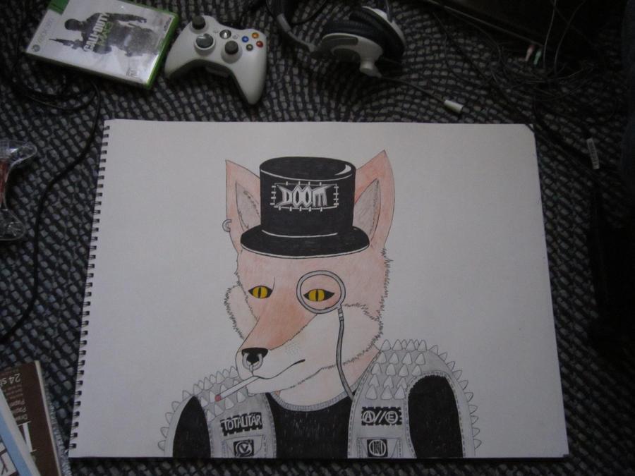 Classy Punk Fox by CrashyBandicoot