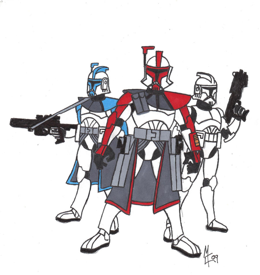 how to draw a clone trooper