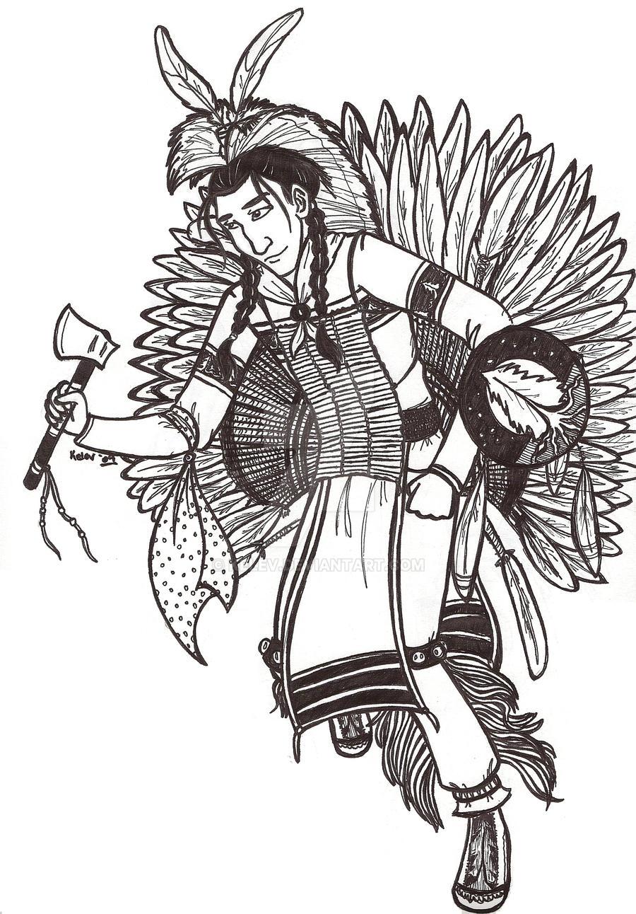 jesse line art ojibwe pow wow by kelev