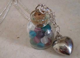 Miniature bottle pendant