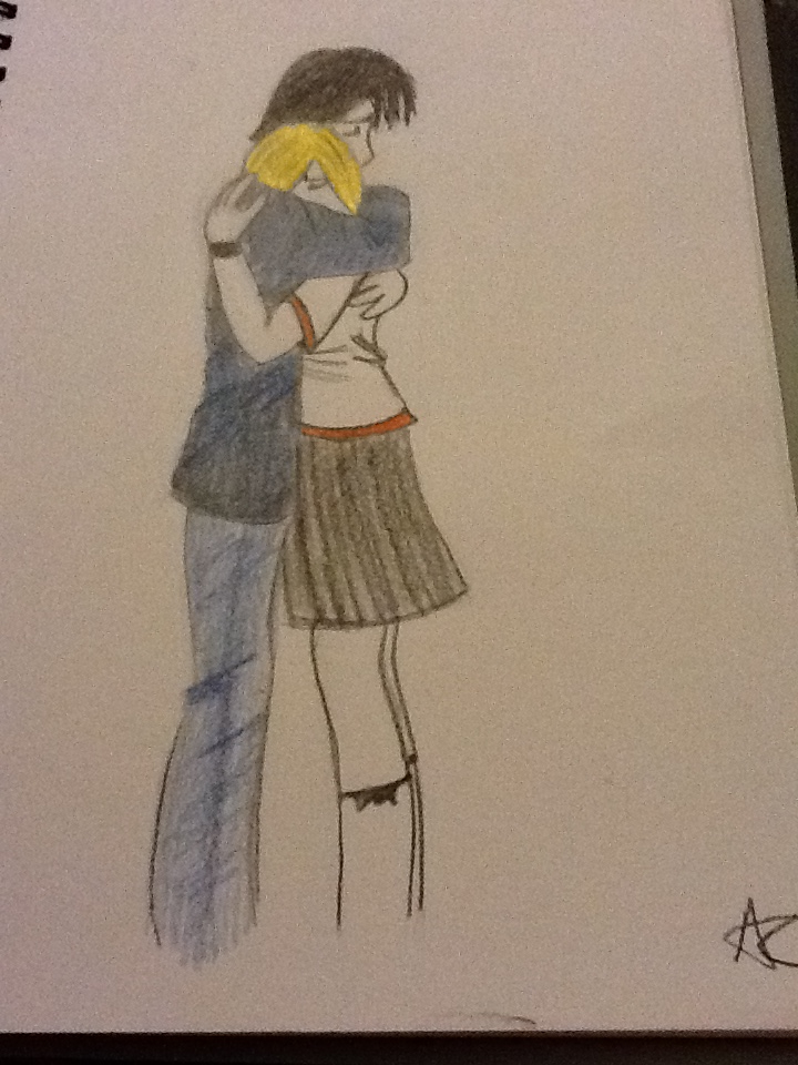 Manga boy and girl hugging by AlexCliffy92 on DeviantArt
