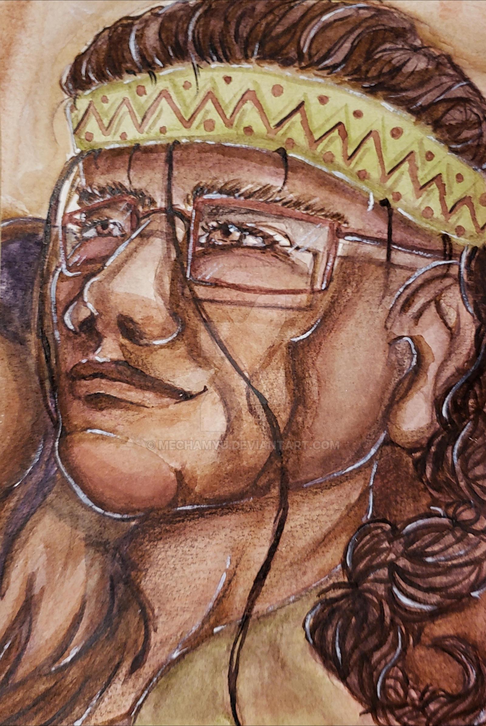 Watercolor painting portrait