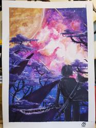 [Gift] Watercolor Nebula with Star War undertones