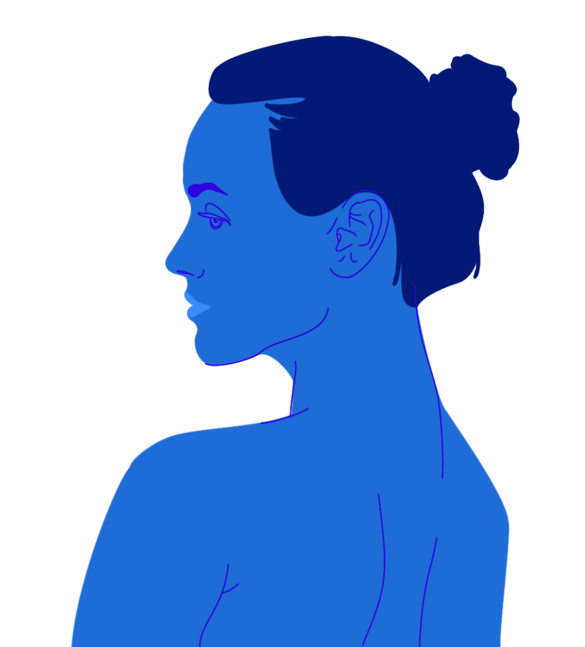 Profile in Blue by SuperBillyJilly