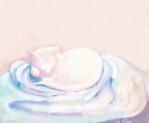 Yuki Sleeping by alura5