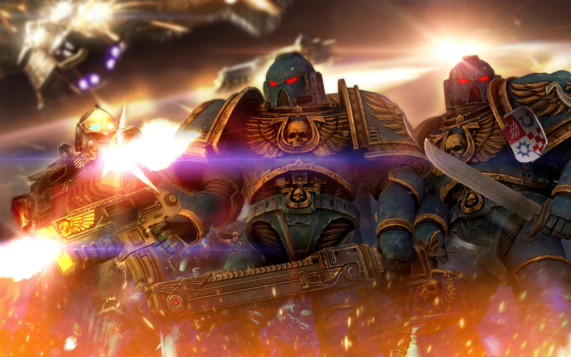Space Marine Overcome by LordofCombine