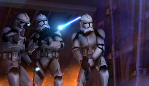 Clone trooper boarding party