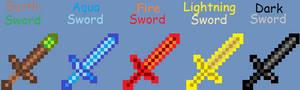 Minecraft - Elemental Swords *new*