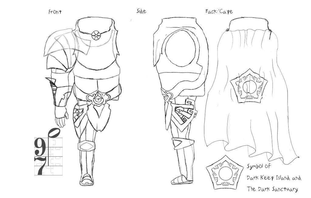 Brache Concepting -Full Armor [Underlines]- WIP by Naside