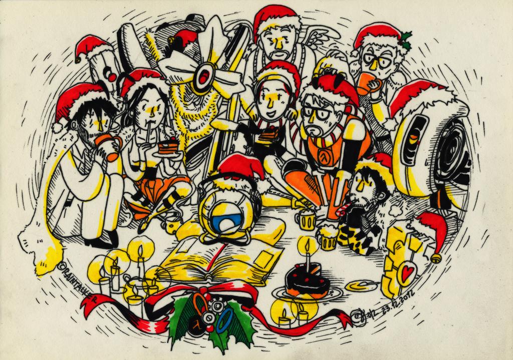 Merry Christmas Valve-style by raintalker