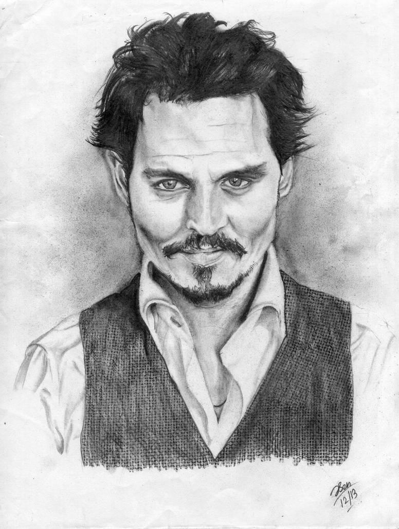 Johnny depp pencil sketch portrait by sathun on deviantart