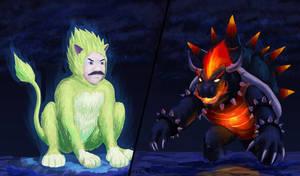 Super Mario Cat vs Fury Bowser