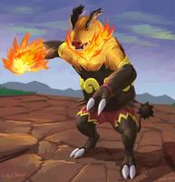 Emboar using Fire Punch