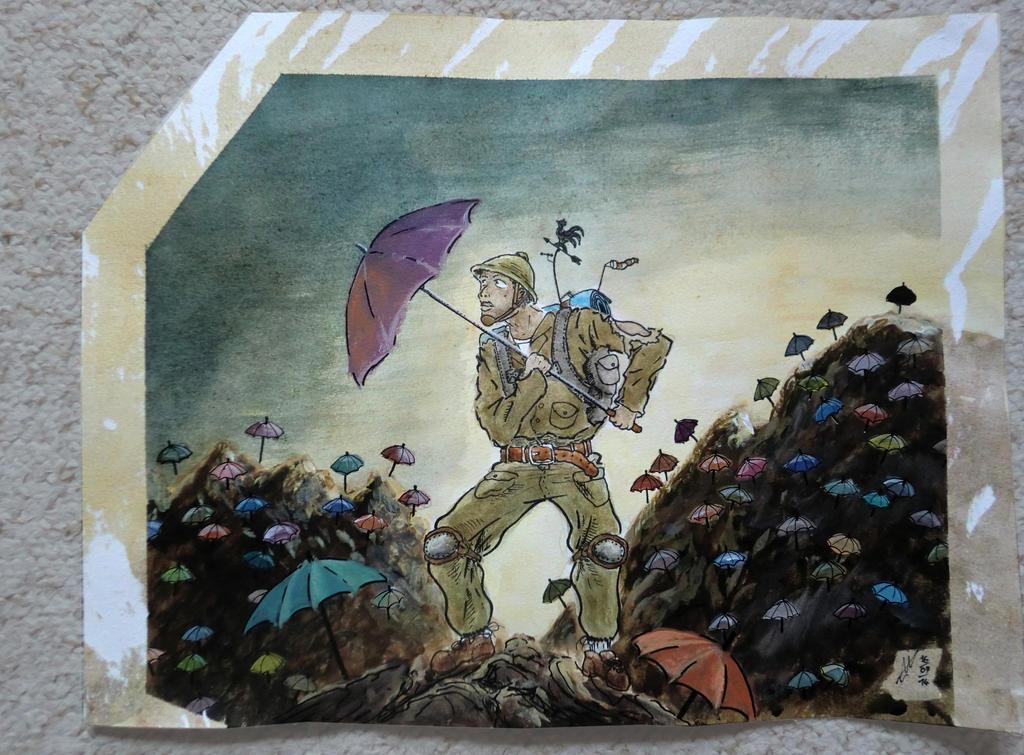 The explorator at the lost umbrella's land by Reviston