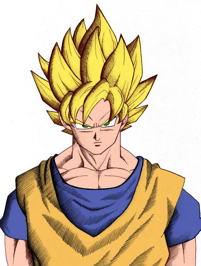 Goku Super Saiyan Colour by toms2435
