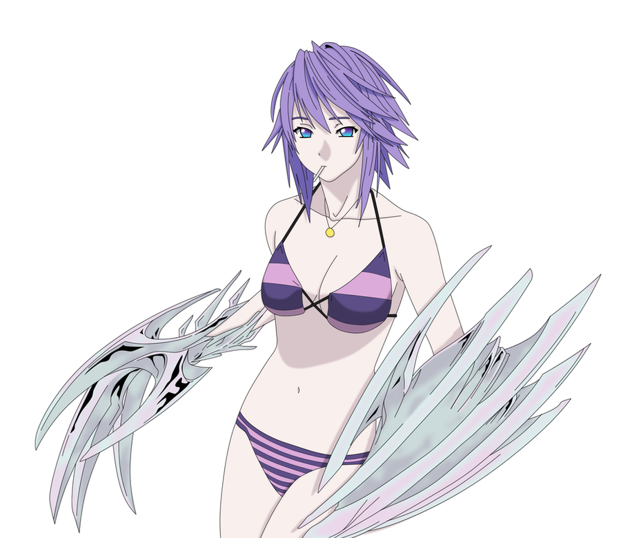 Mizore Shirayuki - At The Beach Vector by toms2435 on ...