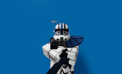 Roblox Blue Stormtrooper (Fan) by MikeEmilStudio
