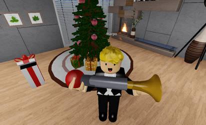 Harpo Marx Got for New Bulb Horn (Merry Christmas) by MikeEmilStudio