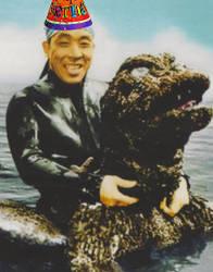 Happy Birthday Haruo Nakajima (Godzilla) by MikeEmilStudio