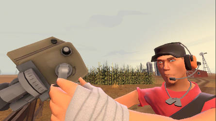 Scout Hold for Camera (Team Fortress 2) by MikeEmilStudio