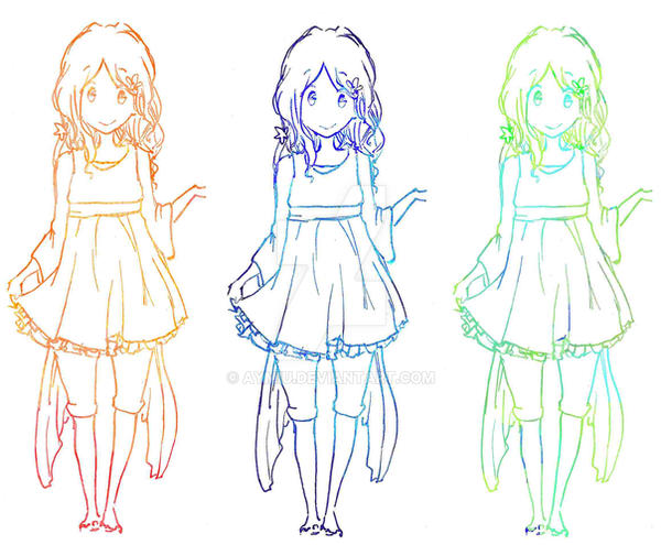 Line Art In Gimp : Change lineartcolors with gimp by aymiu on deviantart