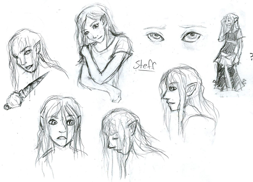 Tales Of Mu-- Steff Sketches by slithercat
