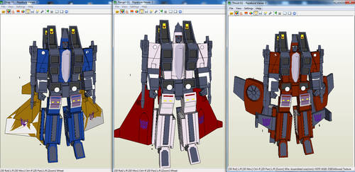 G1 Coneheads papercraft
