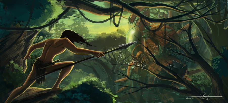 Tarzan and the Alien Ship by rodimus25