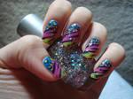 Colorful animal print nails