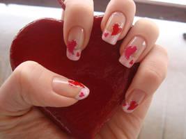Valetine Nails by DancingGinger