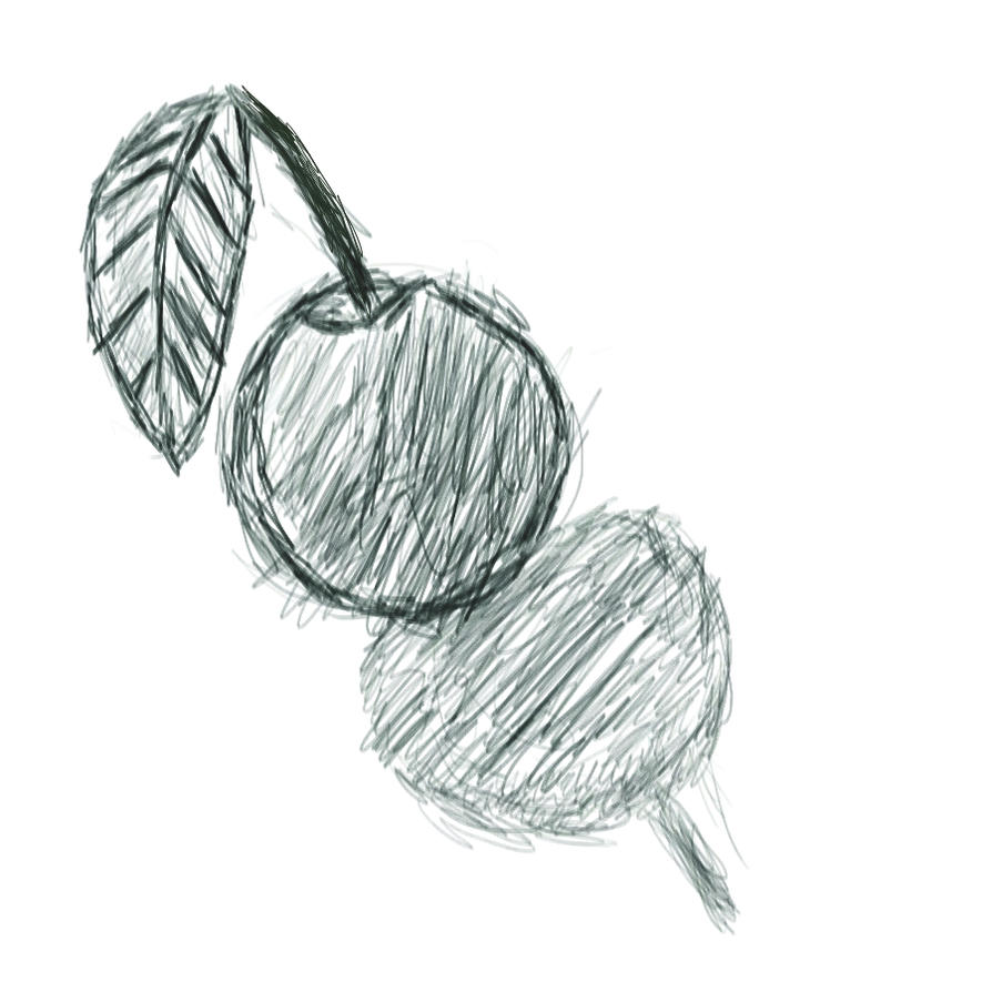 Black and white apple by MykaStitcher