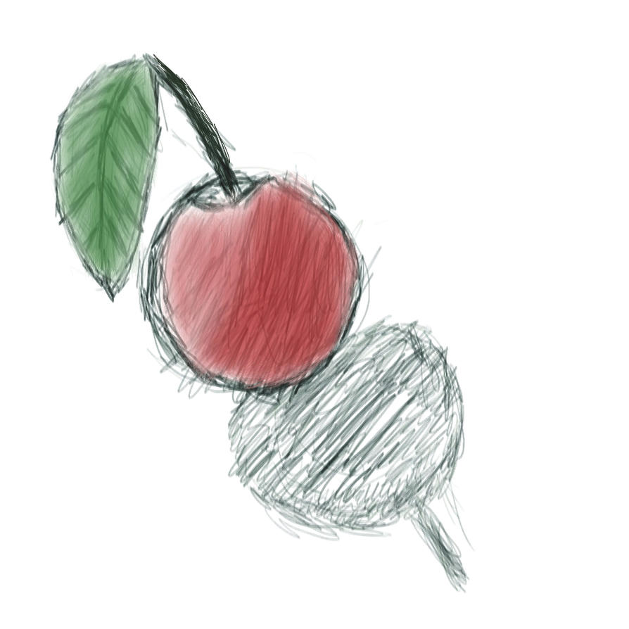 Colored apple by MykaStitcher