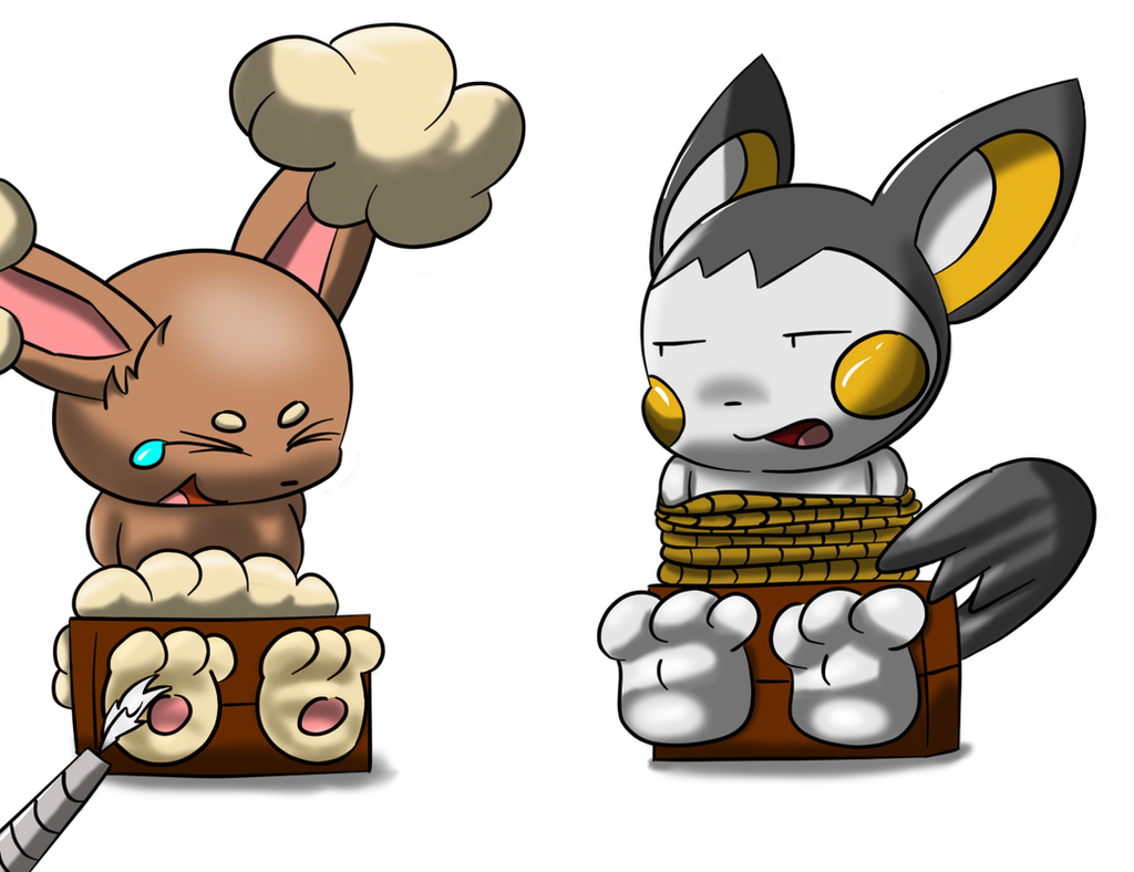 Buneary And Emolga by Alphaws on DeviantArt
