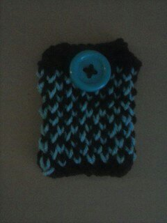 cell phone case blk and blue by whitedove77