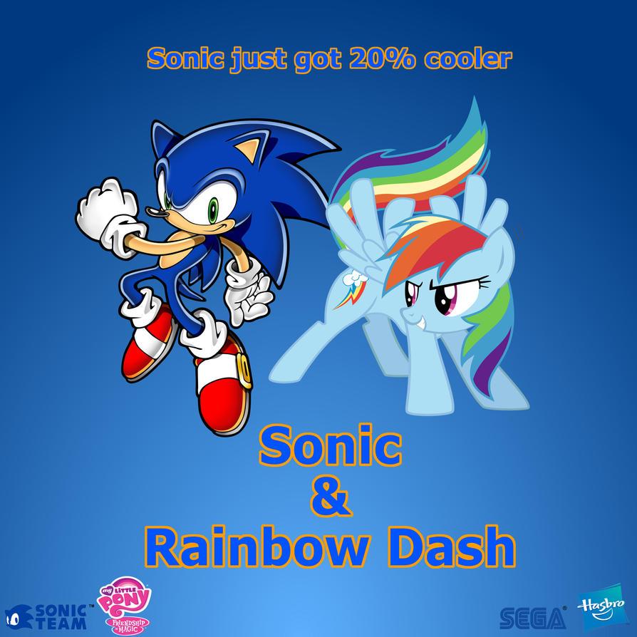 Sonic and Rainbow Dash by Nightfire3024