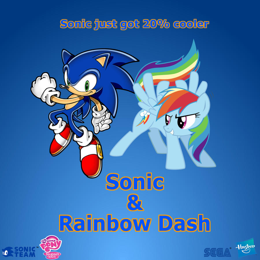 Sonic and Rainbow Dash by Nightfire3024