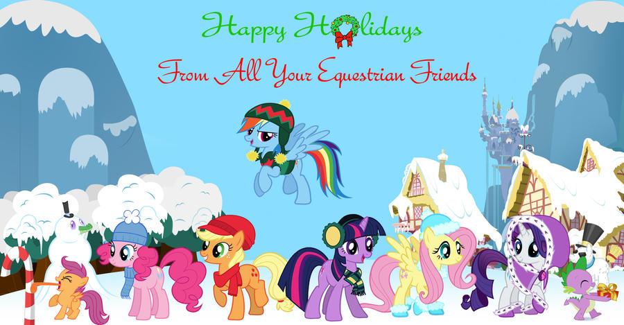 My Little Pony Christmas.My Little Pony Christmas Card By Nightfire3024 On Deviantart