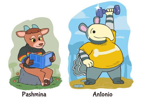 Animal Crossing: Pashmina and Antonio