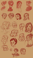 Girl face sketch practice by TheCosbinator