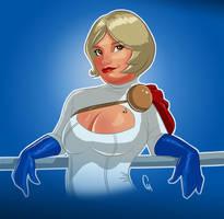 You go Powergirl by TheCosbinator